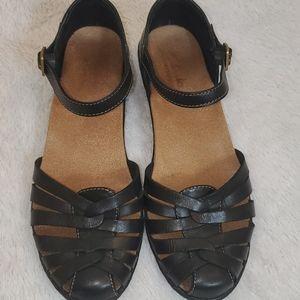Ladles Leather Strap Shoes